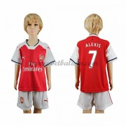 Arsenal Voetbaltenue Kind 2016-17 Alexis 17 Thuisshirt..
