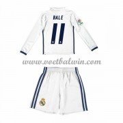 Real Madrid Voetbaltenue Kind 2016-17 Bale 11 Thuisshirt Lange Mouw..