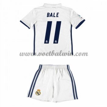 Real Madrid Voetbaltenue Kind 2016-17 Bale 11 Thuisshirt