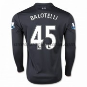 Premier League Voetbalshirts Liverpool 2016-17 Balotelli 45 Third Shirt Lange Mouw..