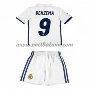 Real Madrid Voetbaltenue Kind 2016-17 Benzema 9 Thuisshirt..
