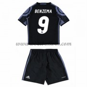 Real Madrid Voetbaltenue Kind 2016-17 Benzema 9 Third Shirt..