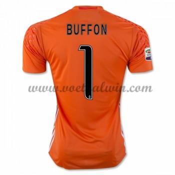 Series A Voetbalshirts Juventus 2016-17 Buffon 1 Keeper Thuisshirt