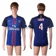 Ligue 1 Voetbalshirts Paris Saint Germain Psg 2016-17 Cabaye 4 Thuisshirt..