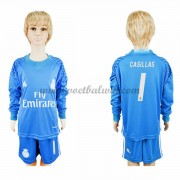 Real Madrid Voetbaltenue Kind 2016-17 Casillas 1 Keeper Thuisshirt Lange Mouw..