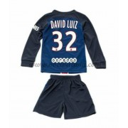 Paris Saint Germain PSG Voetbaltenue Kind 2016-17 David Luiz 32 Thuisshirt Lange Mouw..