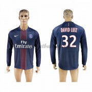 Ligue 1 Voetbalshirts Paris Saint Germain Psg 2016-17 David Luiz 32 Thuisshirt Lange Mouw..