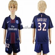Paris Saint Germain PSG Voetbaltenue Kind 2016-17 David Luiz 32 Thuisshirt..