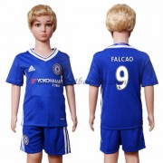 Chelsea Voetbaltenue Kind 2016-17 Falcao 9 Thuisshirt..