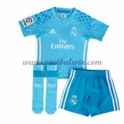 Real Madrid Voetbaltenue Kind 2016-17 Keeper Thuisshirt..