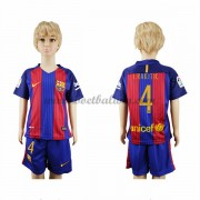 Barcelona Voetbaltenue Kind 2016-17 I. Rakitic 4 Thuisshirt..