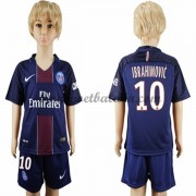 Paris Saint Germain PSG Voetbaltenue Kind 2016-17 Ibrahimovic 10 Thuisshirt..