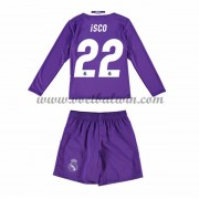 Real Madrid Voetbaltenue Kind 2016-17 Isco 22 Uitshirt Lange Mouw..