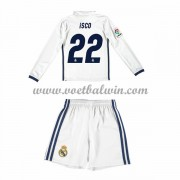 Real Madrid Voetbaltenue Kind 2016-17 Isco 22 Thuisshirt Lange Mouw..