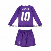 Real Madrid Voetbaltenue Kind 2016-17 James 10 Uitshirt Lange Mouw..