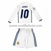 Real Madrid Voetbaltenue Kind 2016-17 James 10 Thuisshirt Lange Mouw..