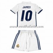 Real Madrid Voetbaltenue Kind 2016-17 James 10 Thuisshirt..