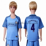 Manchester City Voetbaltenue Kind 2016-17 Kompany 4 Thuisshirt..