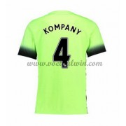 Premier League Voetbalshirts Manchester City 2016-17 Kompany 4 Third Shirt..
