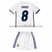 Real Madrid Voetbaltenue Kind 2016-17 Kroos 8 Thuisshirt..