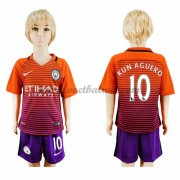 Manchester City Voetbaltenue Kind 2016-17 Kun Aguero 10 Third Shirt..