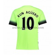Premier League Voetbalshirts Manchester City 2016-17 Kun Aguero 10 Third Shirt..