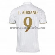 Series A Voetbalshirts AC Milan 2016-17 L. Adriano 9 Uitshirt..