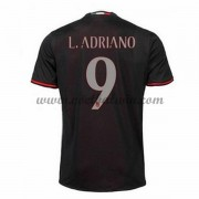 Series A Voetbalshirts AC Milan 2016-17 L. Adriano 9 Thuisshirt..