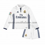 Real Madrid Voetbaltenue Kind 2016-17 Thuisshirt Lange Mouw..