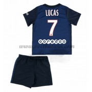 Paris Saint Germain PSG Voetbaltenue Kind 2016-17 Lucas 7 Thuisshirt..