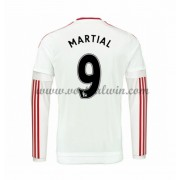 Premier League Voetbalshirts Manchester United 2016-17 Martial 9 Uitshirt Lange Mouw..