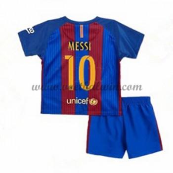 Barcelona Voetbaltenue Kind 2016-17 Messi 10 Thuisshirt