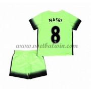 Manchester City Voetbaltenue Kind 2016-17 Nasri 8 Third Shirt..