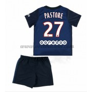 Paris Saint Germain PSG Voetbaltenue Kind 2016-17 Pastore 27 Thuisshirt..