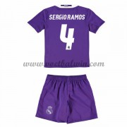 Real Madrid Voetbaltenue Kind 2016-17 Sergio Ramos 4 Uitshirt..