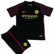 Manchester City Voetbaltenue Kind 2016-17 Uitshirt..