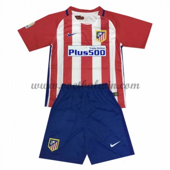 Atletico Madrid Voetbaltenue Kind 2016-17 Thuisshirt