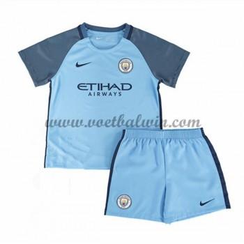 Manchester City Voetbaltenue Kind 2016-17 Thuisshirt