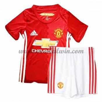 Manchester United Voetbaltenue Kind 2016-17 Thuisshirt