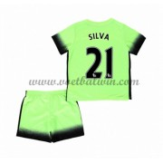 Manchester City Voetbaltenue Kind 2016-17 Silva 21 Third Shirt..