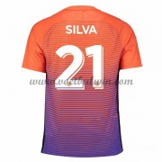 Premier League Voetbalshirts Manchester City 2016-17 Silva 21 Third Shirt..