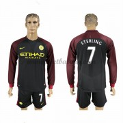 Premier League Voetbalshirts Manchester City 2016-17 Sterling 7 Uitshirt Lange Mouw..