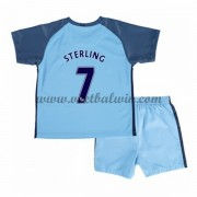 Manchester City Voetbaltenue Kind 2016-17 Sterling 7 Thuisshirt..