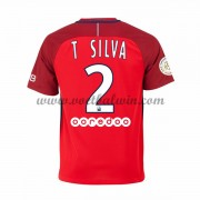 Ligue 1 Voetbalshirts Paris Saint Germain Psg 2016-17 T. Silva 2 Uitshirt..