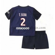 Paris Saint Germain PSG Voetbaltenue Kind 2016-17 T. Silva 2 Thuisshirt..