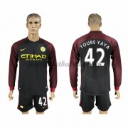 Premier League Voetbalshirts Manchester City 2016-17 Toure Yaya 42 Uitshirt Lange Mouw..