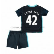 Manchester City Voetbaltenue Kind 2016-17 Toure Yaya 42 Uitshirt..