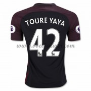 Premier League Voetbalshirts Manchester City 2016-17 Toure Yaya 42 Uitshirt..