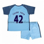 Manchester City Voetbaltenue Kind 2016-17 Toure Yaya 42 Thuisshirt..