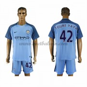 Premier League Voetbalshirts Manchester City 2016-17 Toure Yaya 42 Thuisshirt..